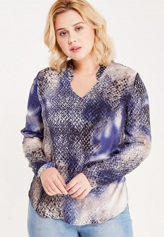 Синяя осенняя блузка Betty Barclay