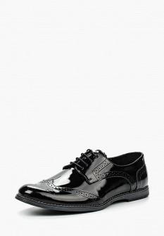 Мужские черные кожаные лаковые туфли