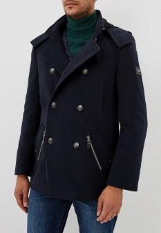 Мужское синее осеннее пальто
