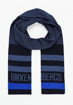 Мужской синий итальянский осенний шарф
