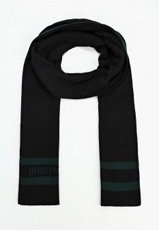 Мужской черный итальянский осенний шарф