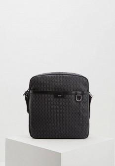 Мужская серая кожаная сумка
