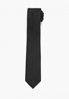 Мужской черный итальянский галстук