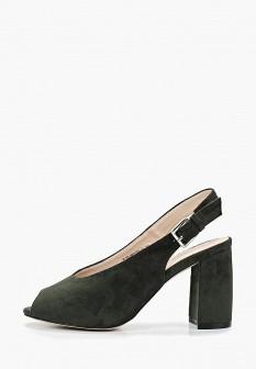 Женские зеленые босоножки на каблуке