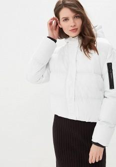 Женская белая утепленная осенняя куртка