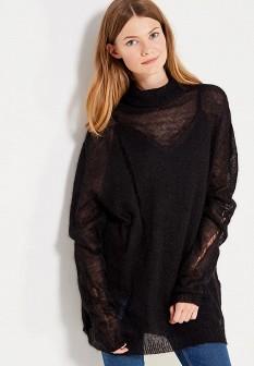 Женский черный осенний свитер