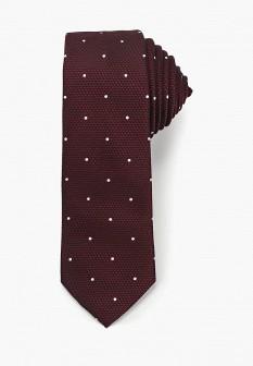 Мужской бордовый галстук Burton Menswear London
