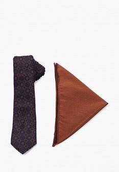 Мужской коричневый синий галстук