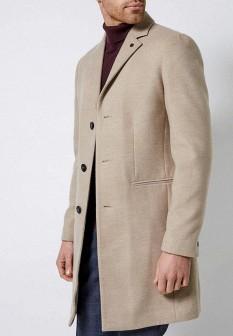 Мужское бежевое осеннее пальто