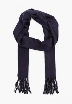 Мужской синий осенний шарф