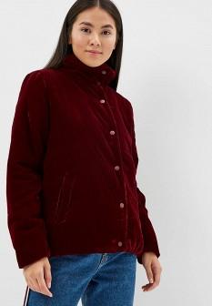 Женская бордовая утепленная осенняя куртка