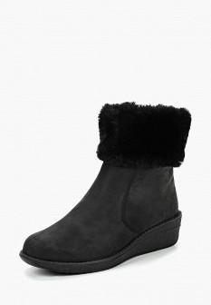 Женские черные немецкие осенние сапоги на каблуке