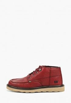 Мужские красные осенние кожаные ботинки