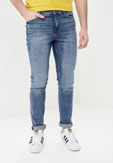 Мужские голубые осенние джинсы