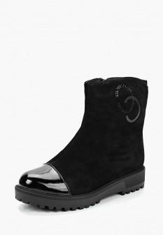 Женские черные осенние сапоги на каблуке на платформе