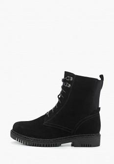 Женские черные осенние ботинки на каблуке