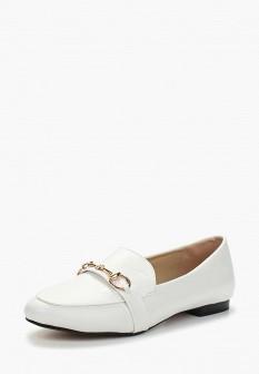 Женские белые осенние кожаные туфли лоферы