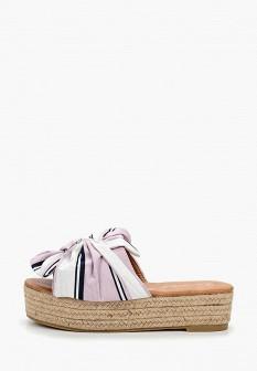 Женские фиолетовые сабо на каблуке