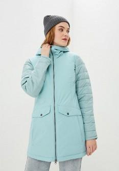 Женская бирюзовая утепленная осенняя куртка