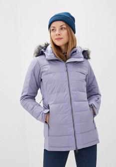 Женская фиолетовая утепленная осенняя куртка
