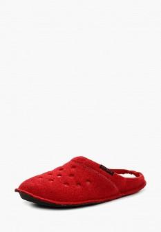 Женские красные осенние текстильные тапочки