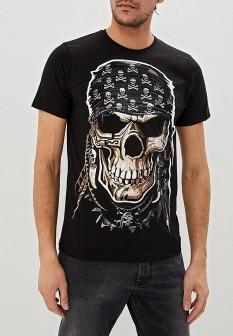 Мужская черная домашняя футболка