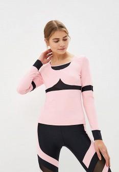 Женский розовый осенний спортивный лонгслив