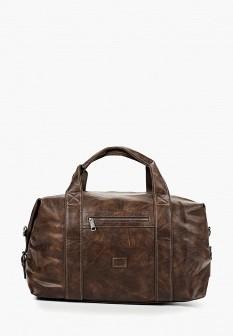 Женская коричневая дорожная кожаная сумка