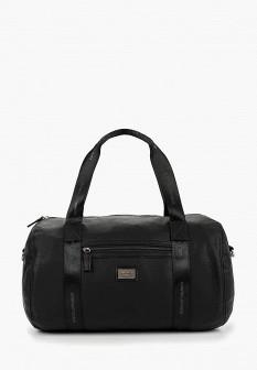 Женская черная дорожная кожаная сумка