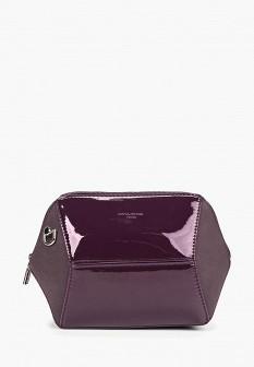 Женская фиолетовая осенняя кожаная лаковая сумка
