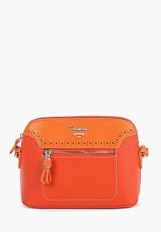 Женская оранжевая кожаная сумка