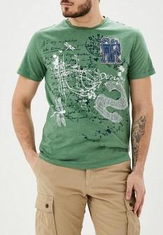 Мужская зеленая футболка Desigual