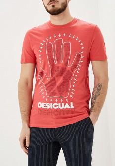 Мужская розовая футболка Desigual