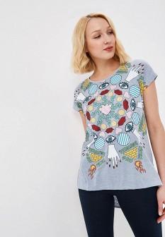Женская серая футболка Desigual