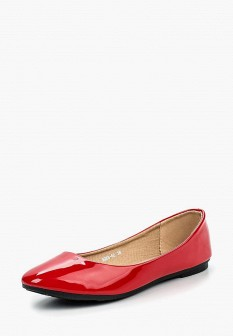 Женские красные кожаные лаковые балетки