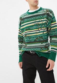 Мужской зеленый осенний свитер