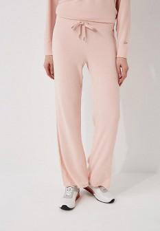 Женские розовые осенние брюки спорт