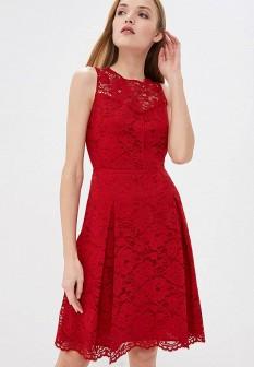 Красное платье DKNY