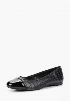 Женские черные осенние кожаные лаковые балетки