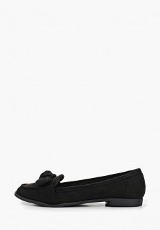 Женские черные текстильные туфли лоферы