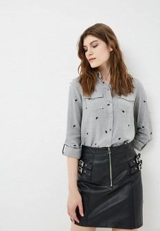 Женская серая осенняя рубашка