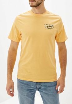 Мужская желтая осенняя футболка