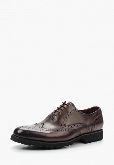 Мужские коричневые итальянские осенние кожаные туфли