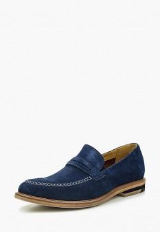 Мужские синие туфли лоферы El Tempo