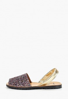 Женские розовые испанские кожаные сандалии