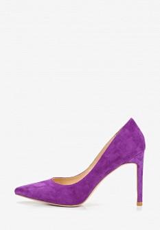 Женские фиолетовые туфли на каблуке