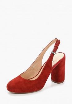 Женские оранжевые туфли на каблуке