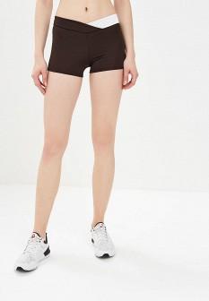 Женские коричневые осенние спортивные шорты