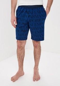 Мужские синие шорты Emporio Armani