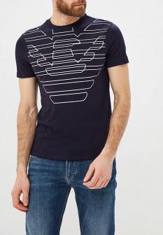 Мужская синяя футболка Emporio Armani